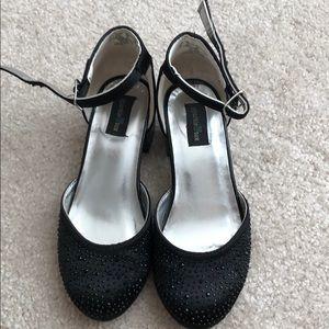 Other - Girls black sparkley strappy heels